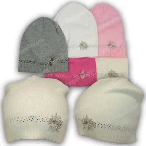 Вязаные шапки для подростков девочек, р. 50-52, купить ...