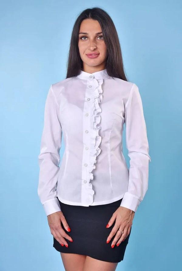 Купить Блузка белая Снежана в интернет-магазине «Фабрика ...