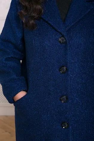 Прямое пальто больших размеров синее Мириам: 1 550 грн ...