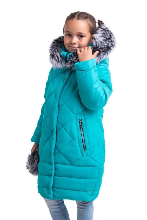 Куртки зимние для девочек от производителя 34-42 бирюзовый ...