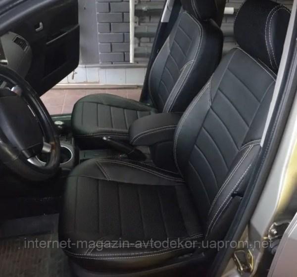 Копия Авточехлы экокожа с двойной строчкой для Chevrolet ...