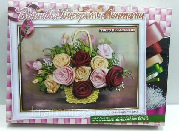 Вышивка бисером и лентами 'Розы' (Бв-01Р-08n): купить в ...