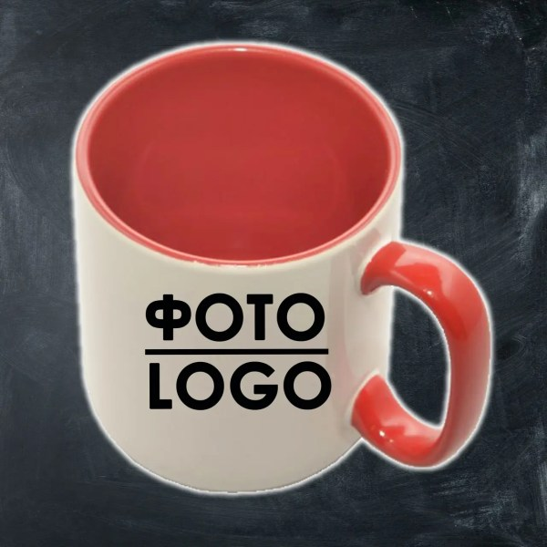 Купить Кружка с фото/логотипом керамическая красная ...