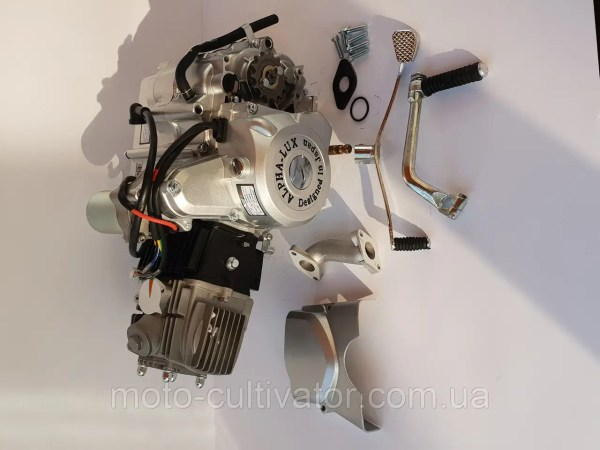 Двигатель на мопед Альфа; Дельта 110 куб, механика ...