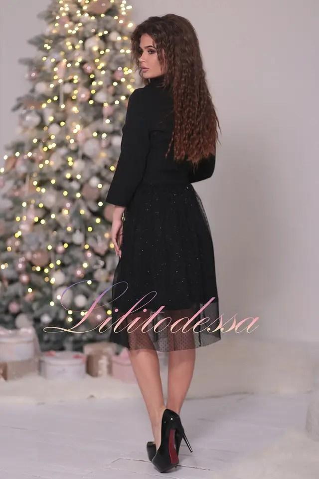Нарядное черное Платье с пышной юбкой: продажа, цена в ...