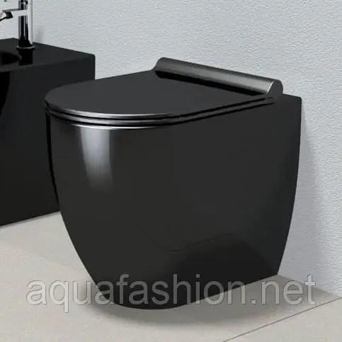 Унитаз черный напольный приставной Catalano Sfera 1VPC52NE ...