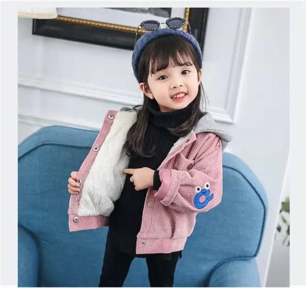Куртка детская демисезонная на девочку вельветовая розовая ...
