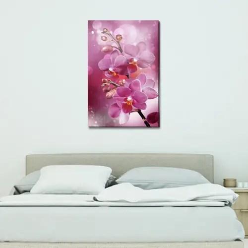 Цветущая ветка орхидей, модульная картина (Цветы), на ПВХ ...
