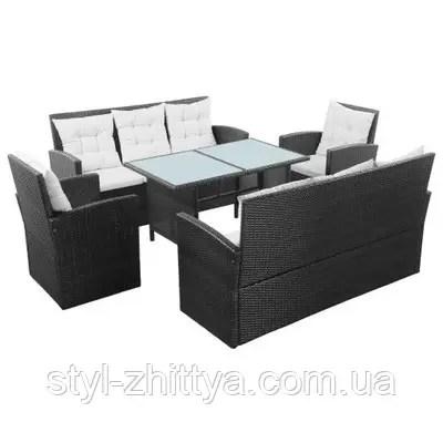 Набір вуличних меблів з штучного ротангу 2 дивани + 2 ...