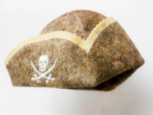 """Шапка для сауны/бани из натуральной шерсти """"Пират ..."""