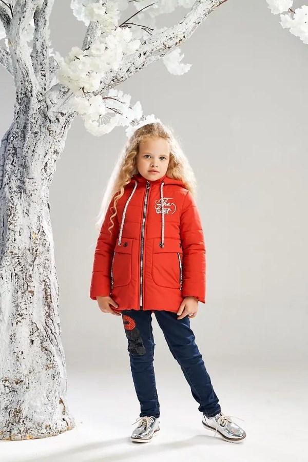 Удлиненная демисезонная куртка на девочку 4-7 лет весна ...