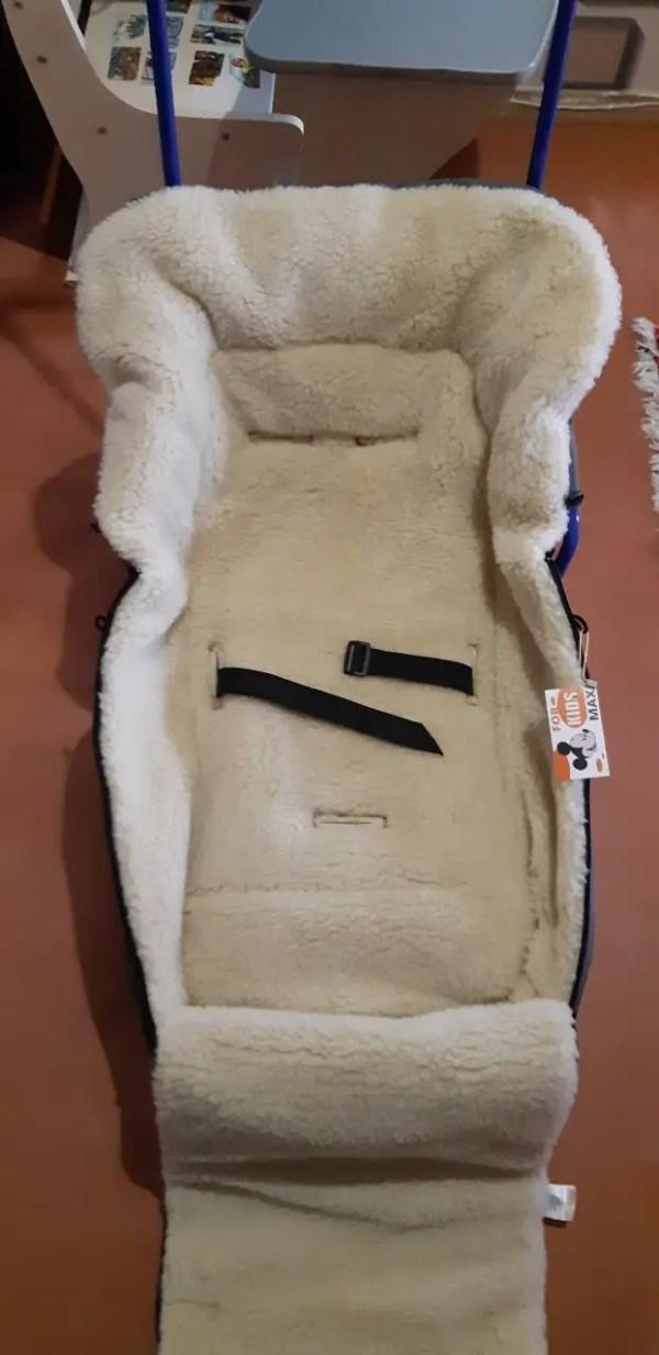 Конверт на овчине для санок и колясок Кидс цвет марсала ...