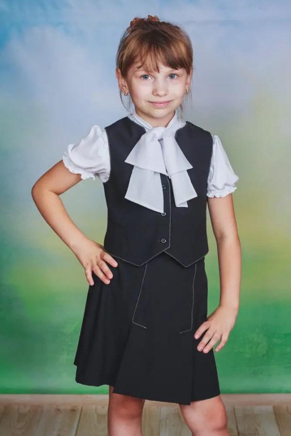 Школьная форма для девочки юбкажилет продажа цена в