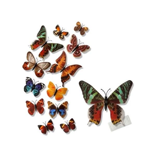 Объемные 3D бабочки на стену (обои) для декора (коричневые ...