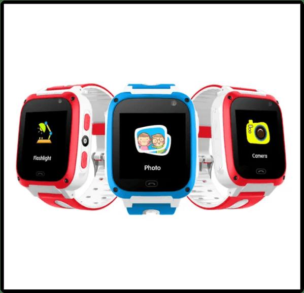 Детские Смарт часы UNITA с GPS T100 синие с камерой и ...