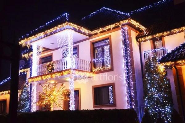 Световая иллюминация, новогоднее оформление фасадов ...