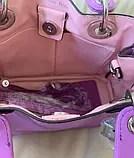 Сумка брендовая mini фиолетового цвета с длинным ремешком ...