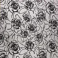 Ткань для мягкой мебели - Флавер серый. Магазин К13