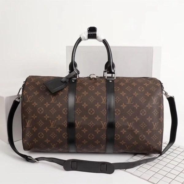Дорожная сумка Луи Витон, Monogram+Black 50 см, кожаная ...