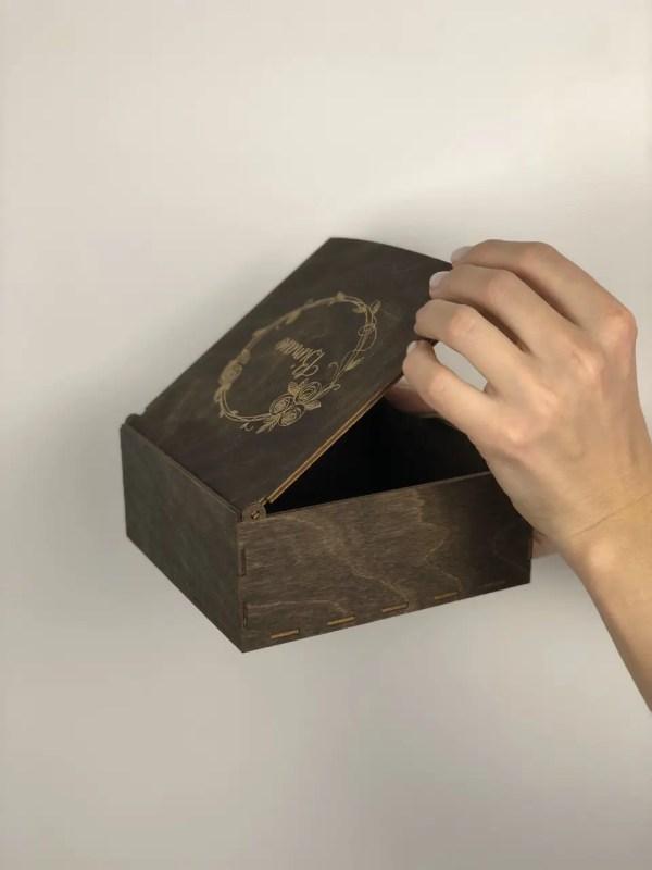 """Коробочка """"Вітаю"""" Эбеновое Дерево, LaserBox: продажа, цена ..."""