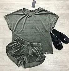 Роскошная женская велюровая пижама шорты и футболка TM ...