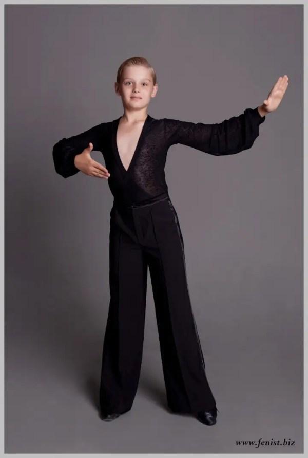 Брюки мужские для бальных танцев с защипами № 907 (с ...