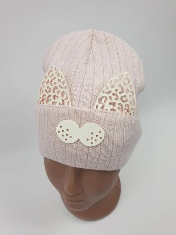 Детские демисезонные вязаные шапки для девочек оптом, р.46 ...