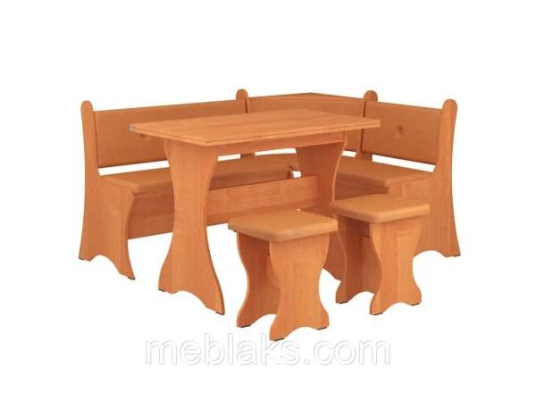 Кухонный уголок «Маркиз» с нераскладным столом и двумя ...