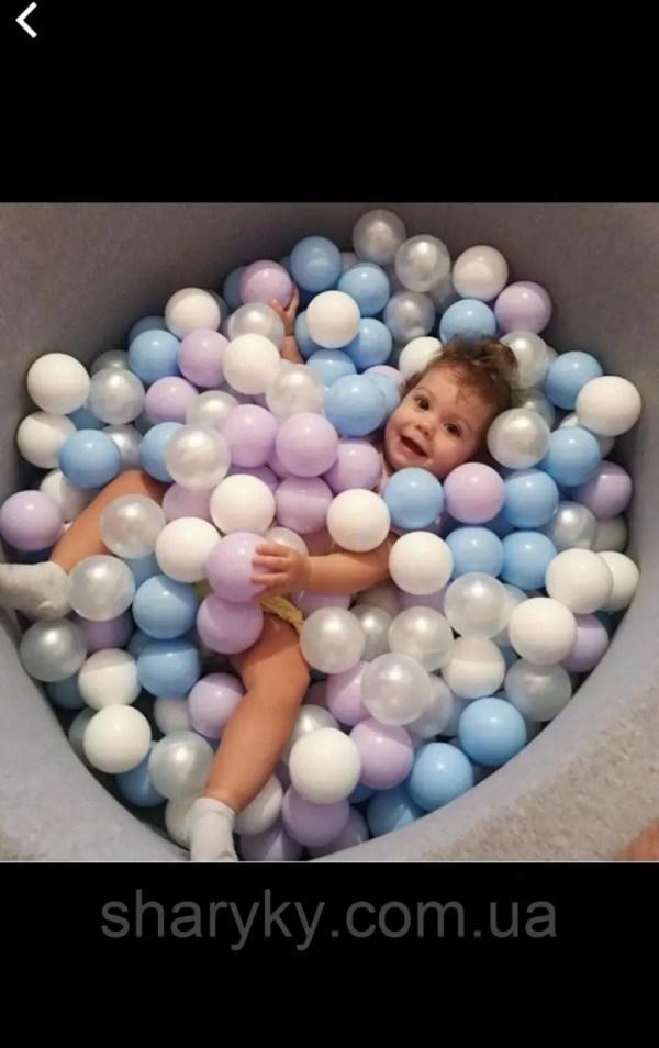 М'ячики для сухого басейну 8 см м'ягкі: продажа, цена в ...