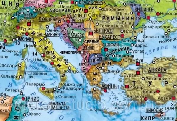 Современная карта мира (на русском языке) в ...