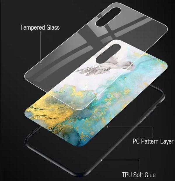 TPU+Glass чехол для Samsung Galaxy J7 Neo J701 Мрамор Люкс ...
