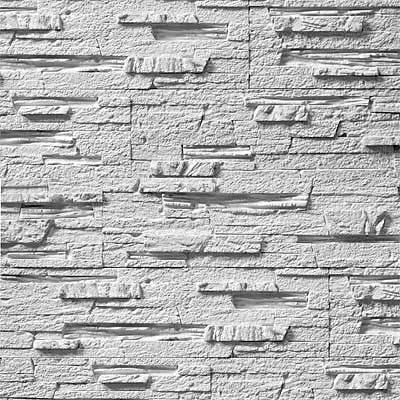 Гипсовая декоративная плитка (камень) Афина белая: продажа ...
