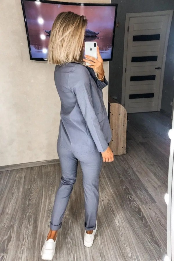 Купить Летний стильный женский костюм с пиджаком и брюками ...