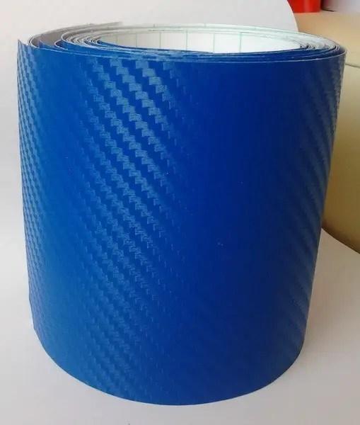 Купить Плёнку Карбон 3d синюю с микроканалами 100х152 см ...