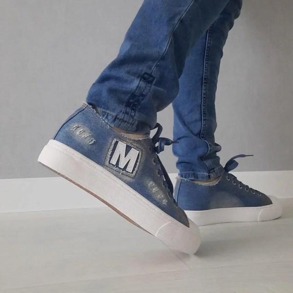 Женские кеды на платформе джинсовые слипоны, сникерсы ...