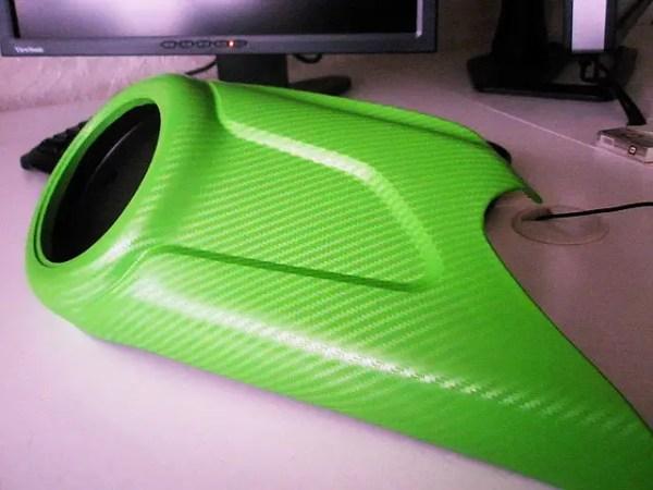 Купить Карбон плёнку 3D салатовый с микроканалами 100х152 ...