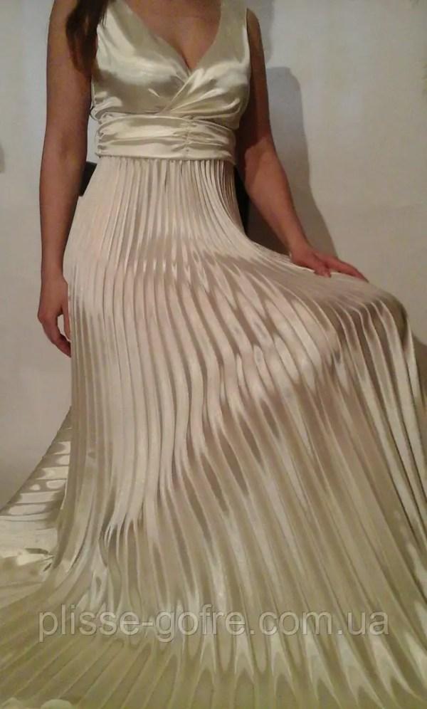 Заказать Вечерние платья гофре в греческом стиле молочные ...