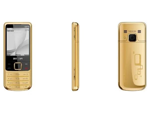 Купить Nokia 6700 копия 2 сим золото Нокия золотой gold