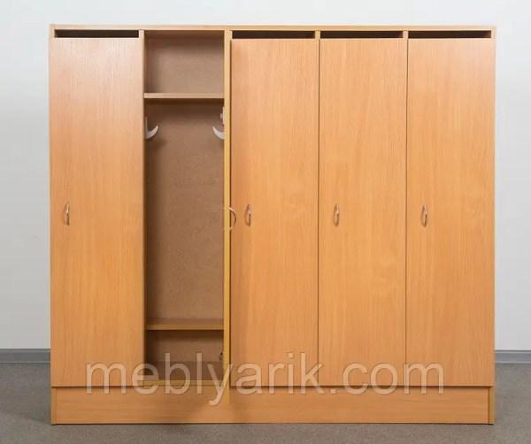 Шкаф 5-дверный для раздевалки в детском саду БУК: продажа ...