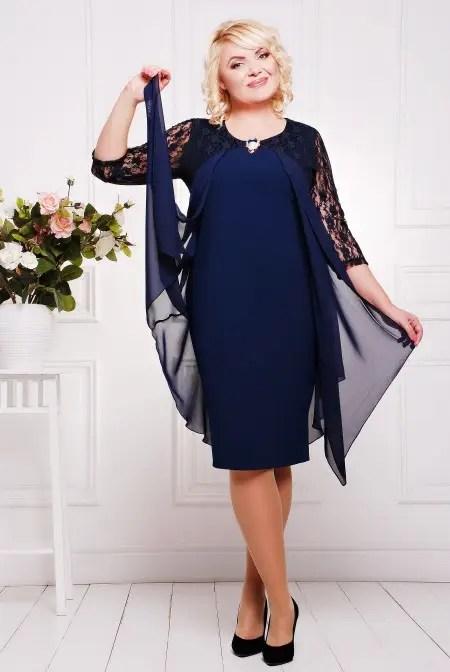 Вечернее платье Роза синее большие размеры 50-58 - купить ...