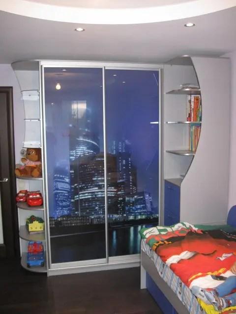 Шкаф-купе в детскую комнату с фотопечатью поз закз ...