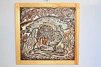Картина Шевченковської тематики «Відьма», написана какао порошком та гірчицею.