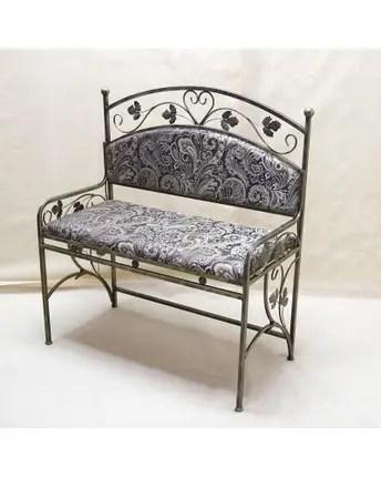 Небольшой стильный диван кованый с мягкой спинкой ДС5 ...