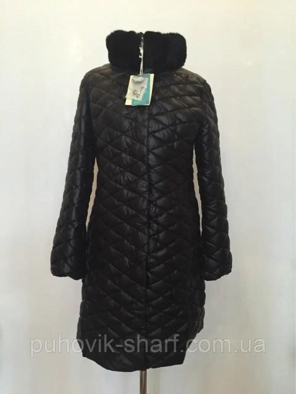 Стеганное женское зимнее пальто пуховик больших размеров ...