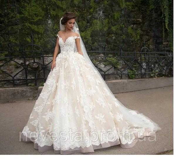 Свадебное платье Мила спадающее кружево: продажа, цена в ...