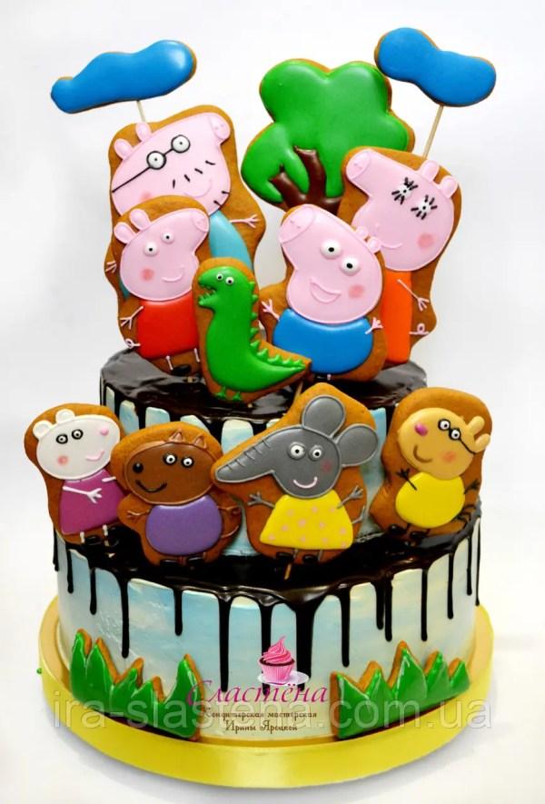 Детский Торт Свинка Пеппа (кремовый без мастики): продажа ...