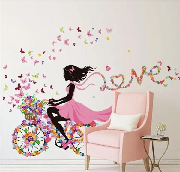 Наклейка девочка на велосипеде 1400х700 мм: продажа, цена ...