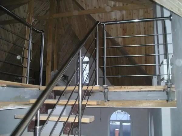 Лестница 3 с перилами из нержавейки продажа цена в