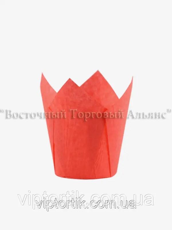 Формы для выпечки маффинов и кексов - Тюльпан красный ...