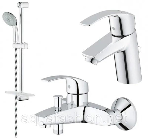 Комплект смесителей для ванной и умывальника Grohe